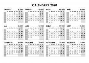 Calendrier Annuel 2020