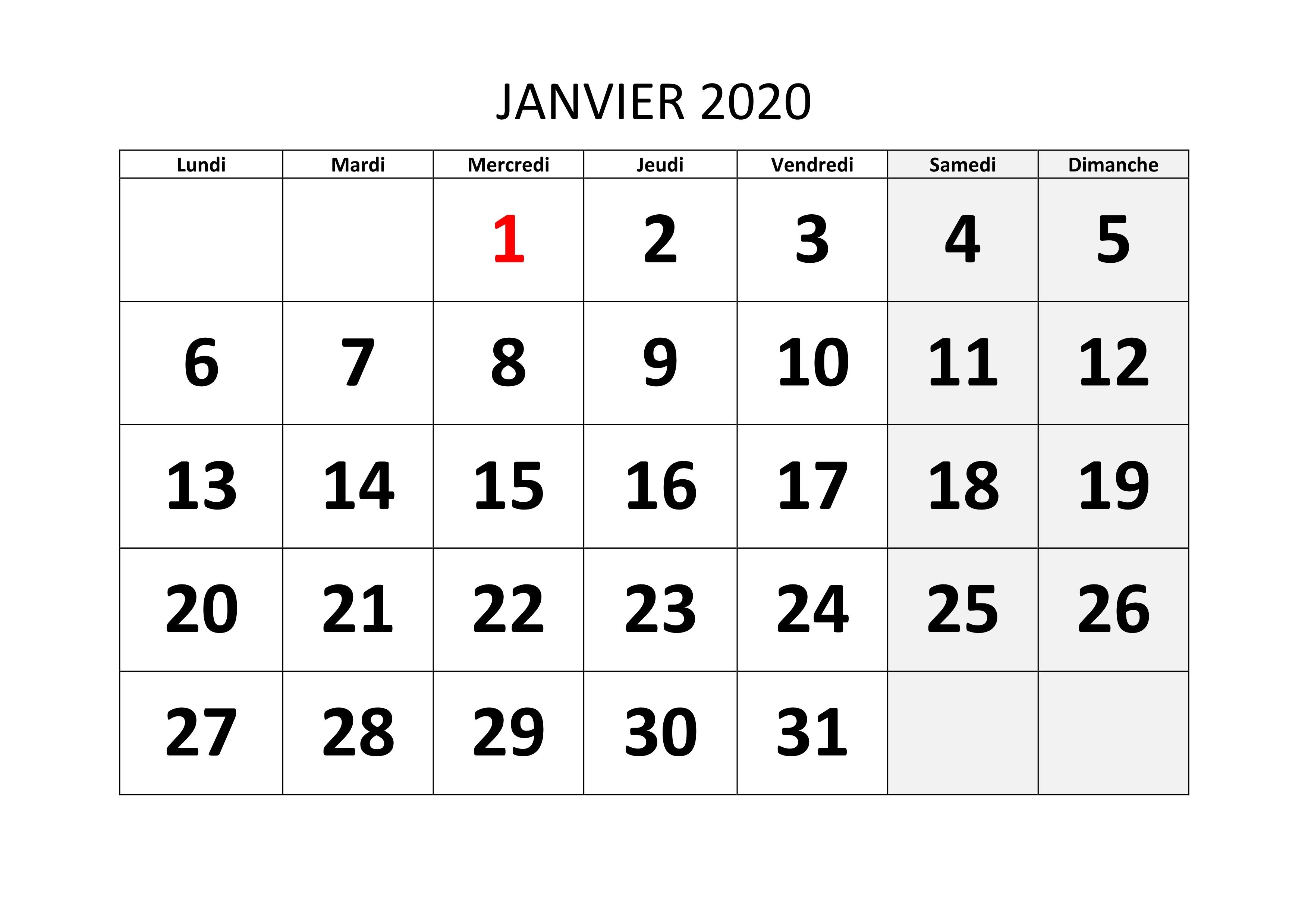 Coupe Du Monde 2020 Calendrier.Calendrier 2020 A Imprimer Pdf
