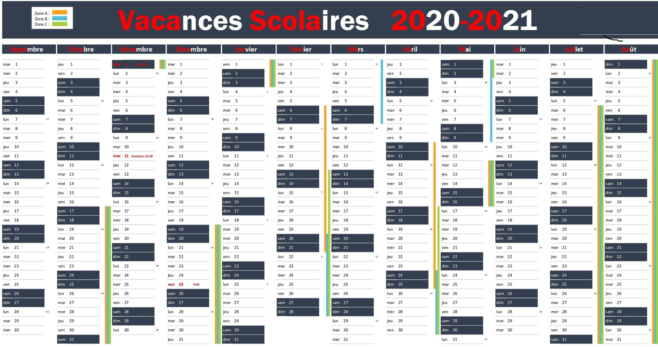 Calendrier Vacances Scolaires 2020 Academie De Amiens