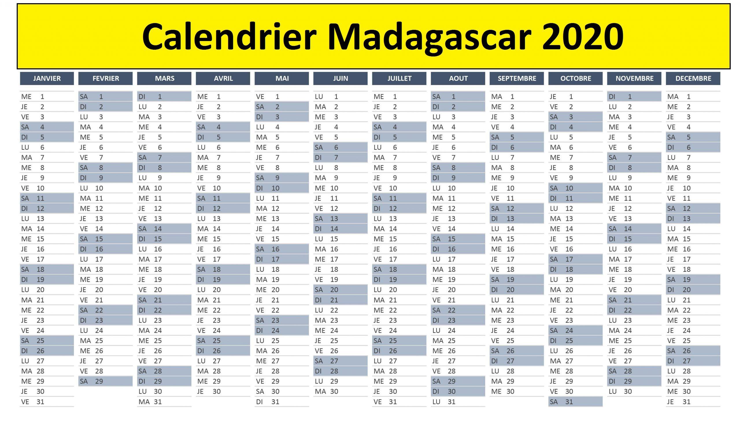 Calendrier Lunaire Madagascar 2020
