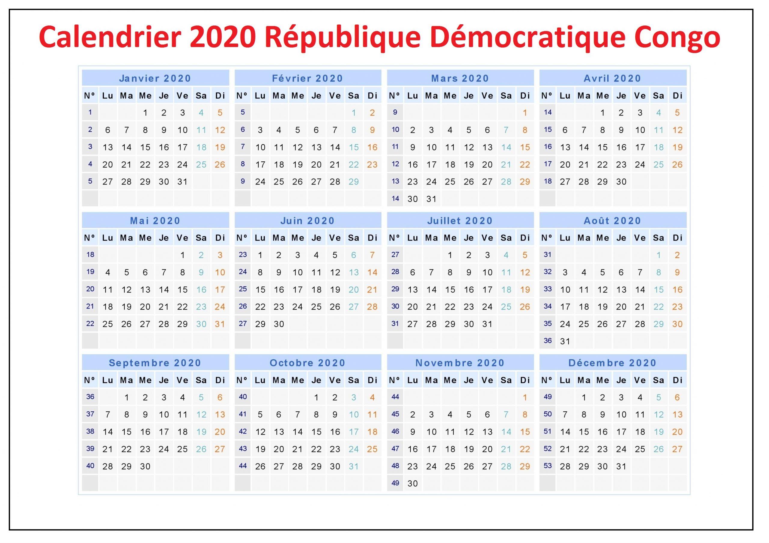 Jours Feries Rdc 2020