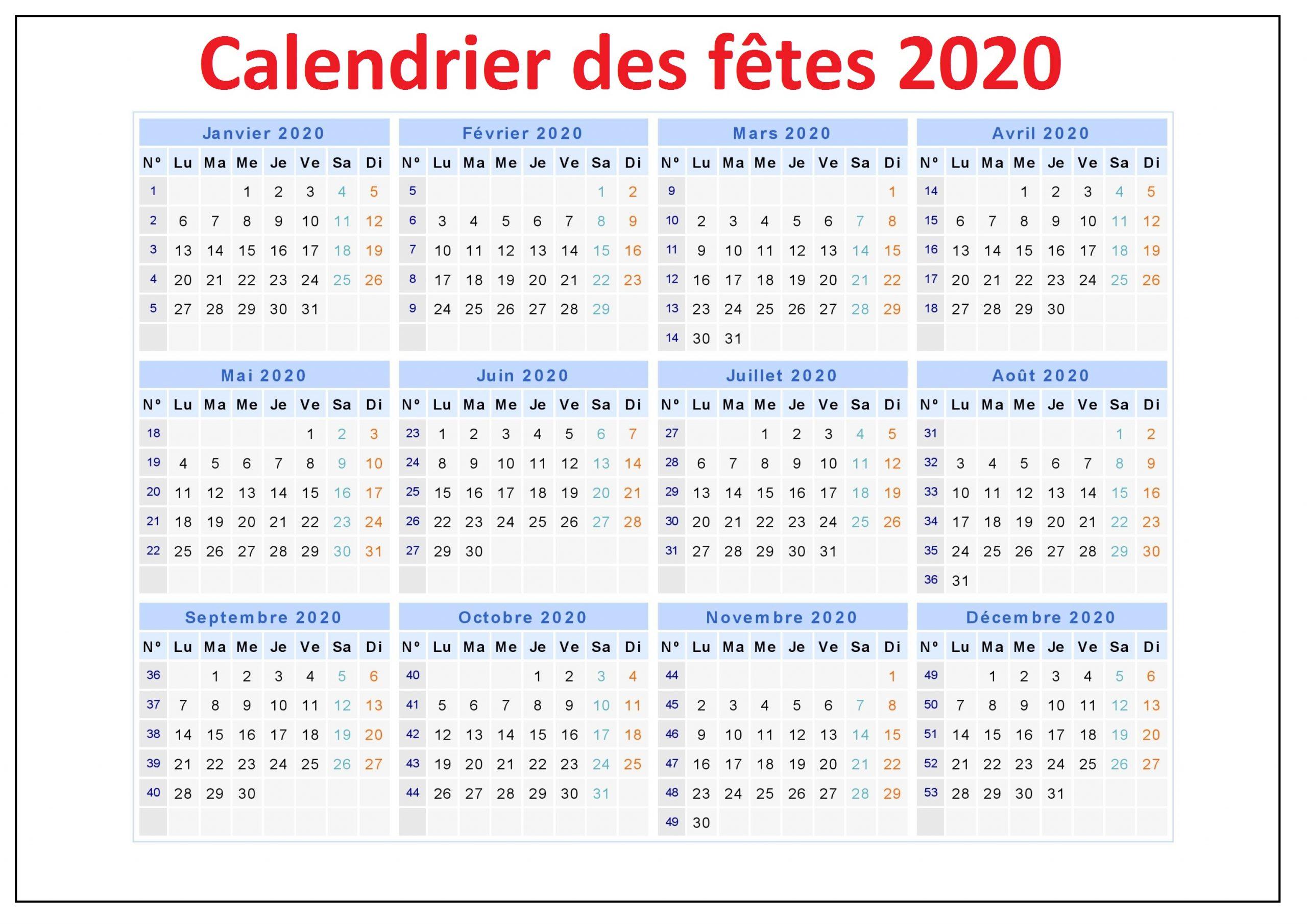 Calendrier Des Fetes 2020 Belgique