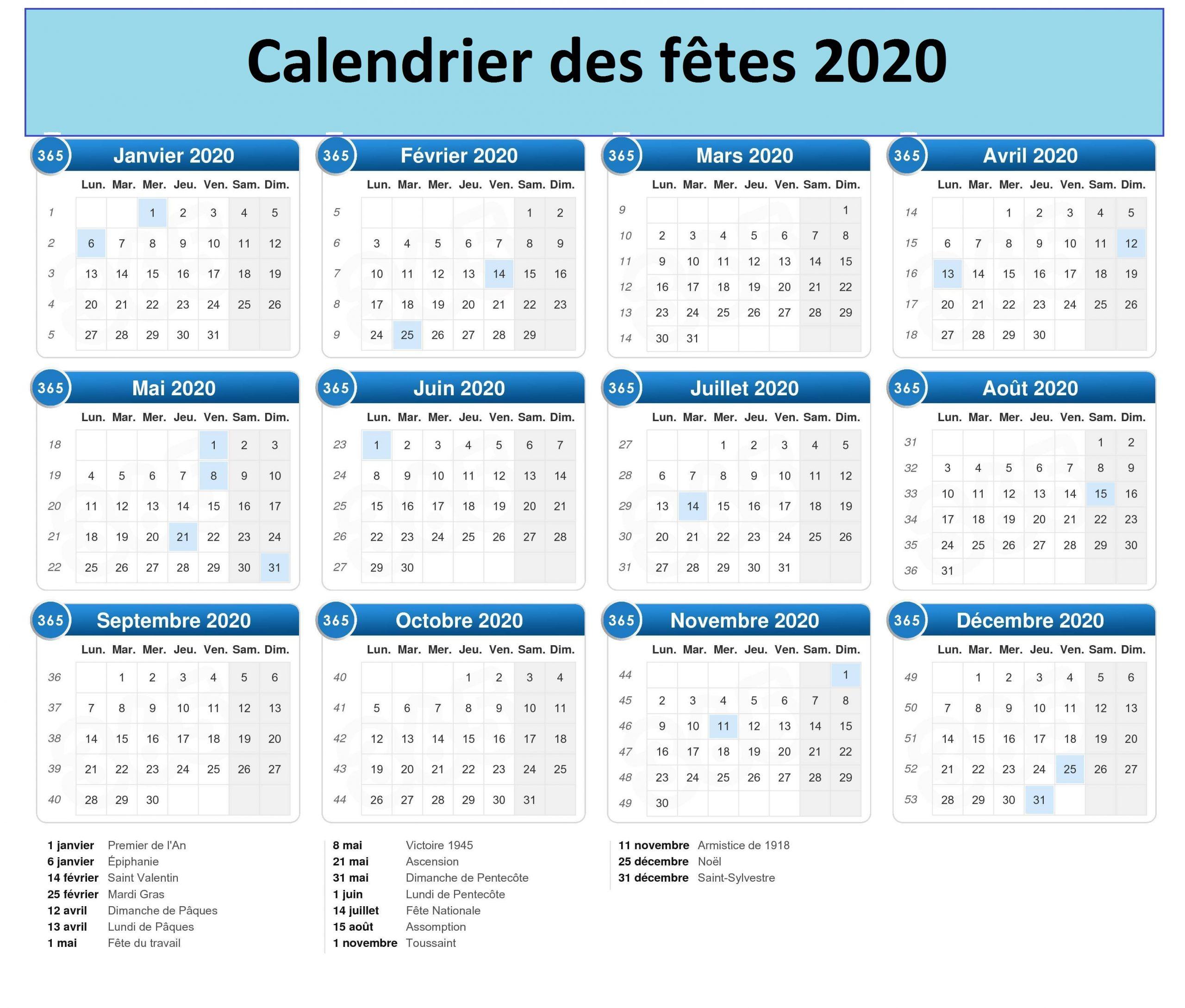CalendrierDes Fetes 2020 Maroc