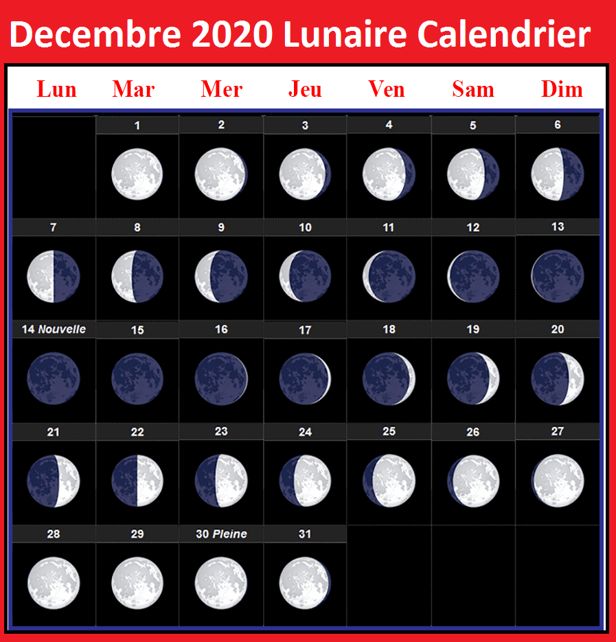 Calendrier Lunaire Decembre 2020 Rustica