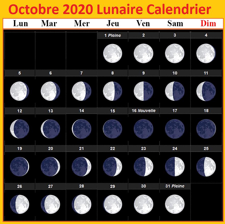 Imprimable Calendrier Lunaire Octobre 2020 Rustica