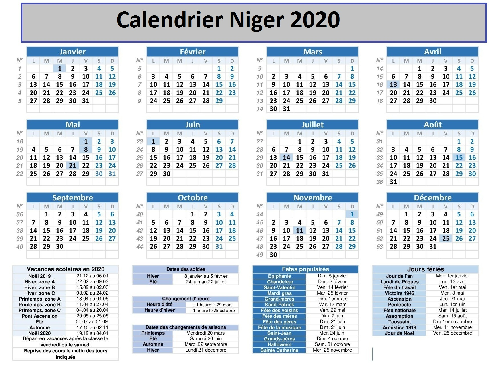 Calendrier Vaccinal Pev Niger 2020