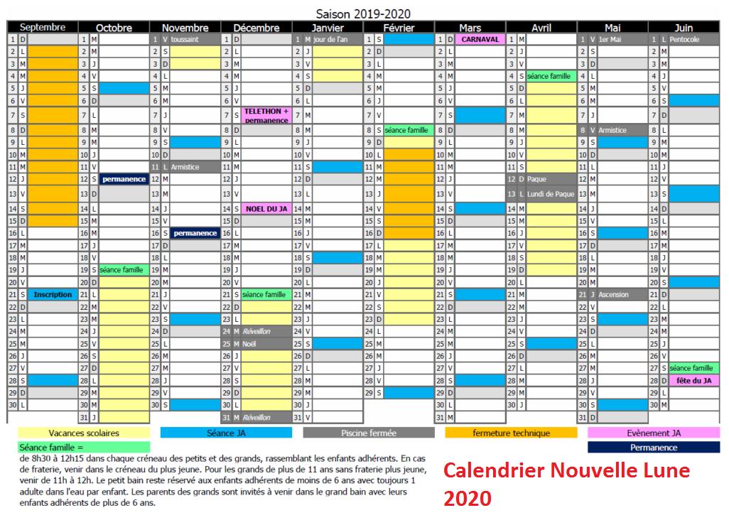 Calendrier Nouvelle Lune 2020 Pdf