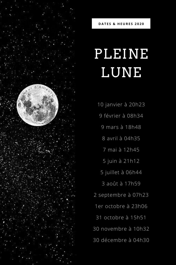 Calendrier Nouvelle Lune 2020 France
