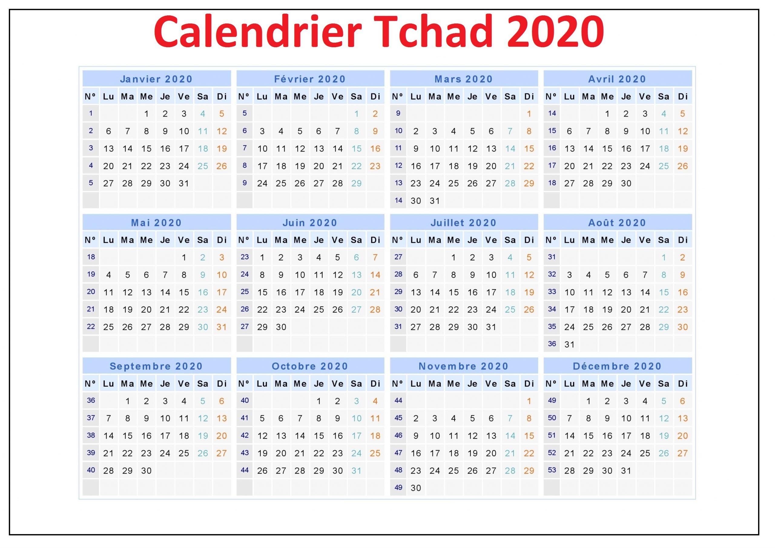 Calendrier Scolaire Au Tchad 2020