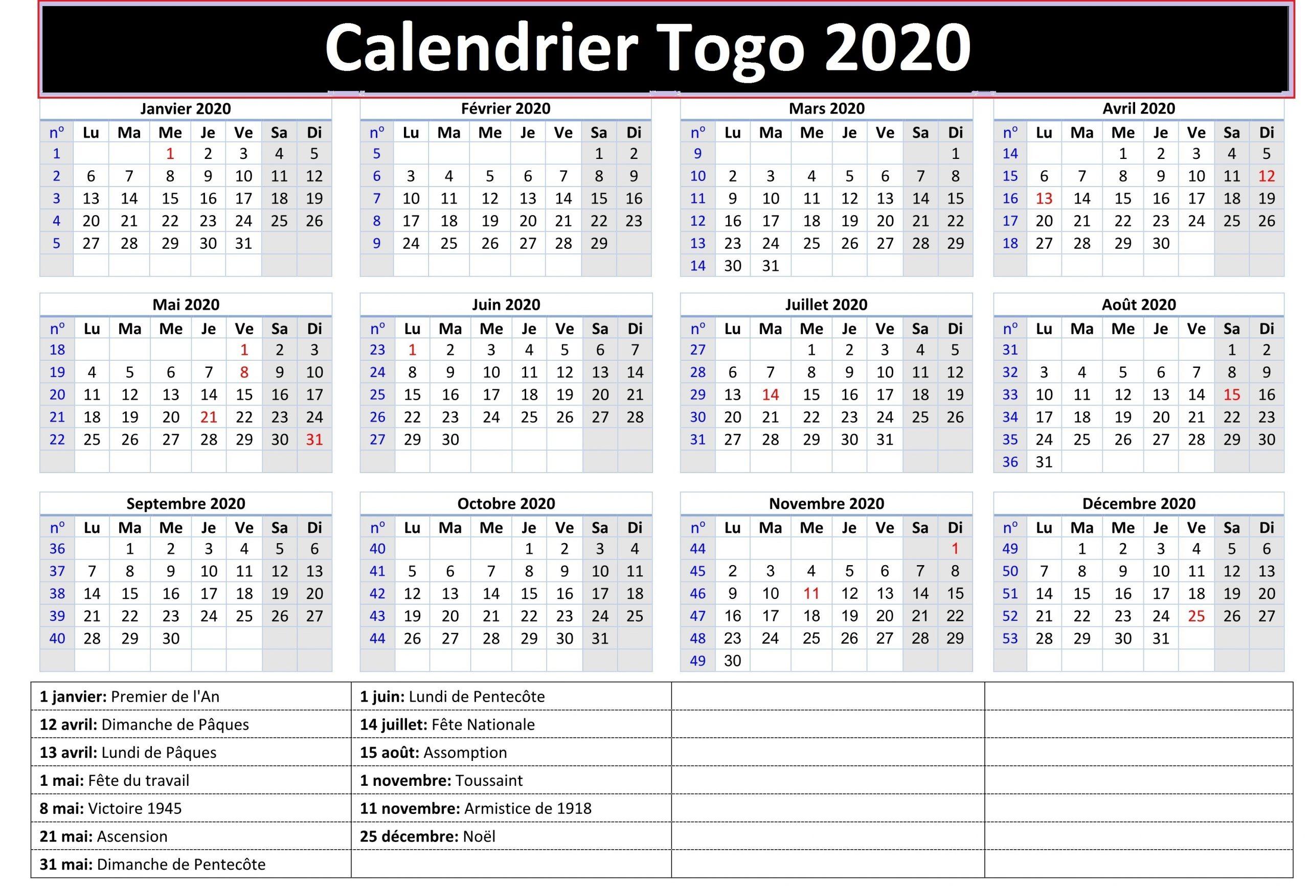 Calendrier Des Examens Au Togo 2020