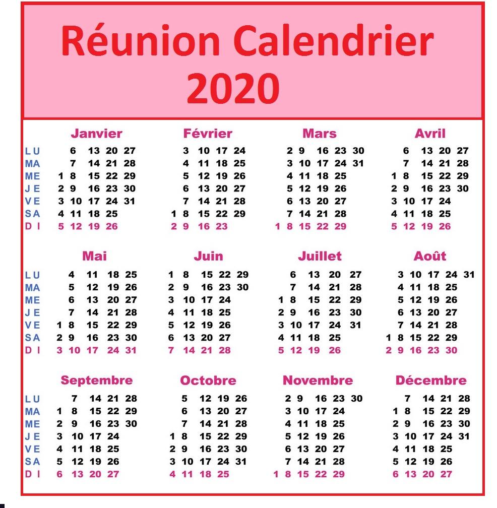 Calendrier Lunaire La Réunion 2020