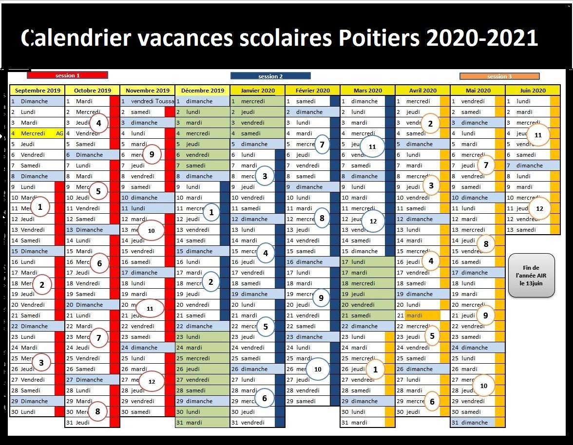 Calendrier Vacances Scolaires Academie De Poitiers 2020 21
