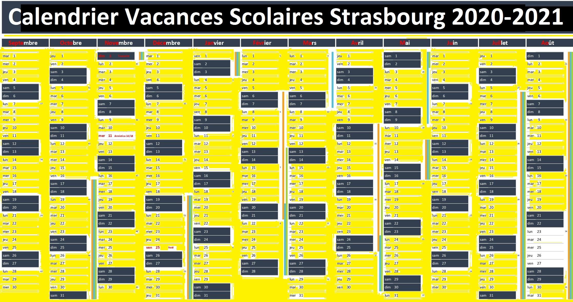 Dates Calendrier Vacances Scolaires Strasbourg 2020