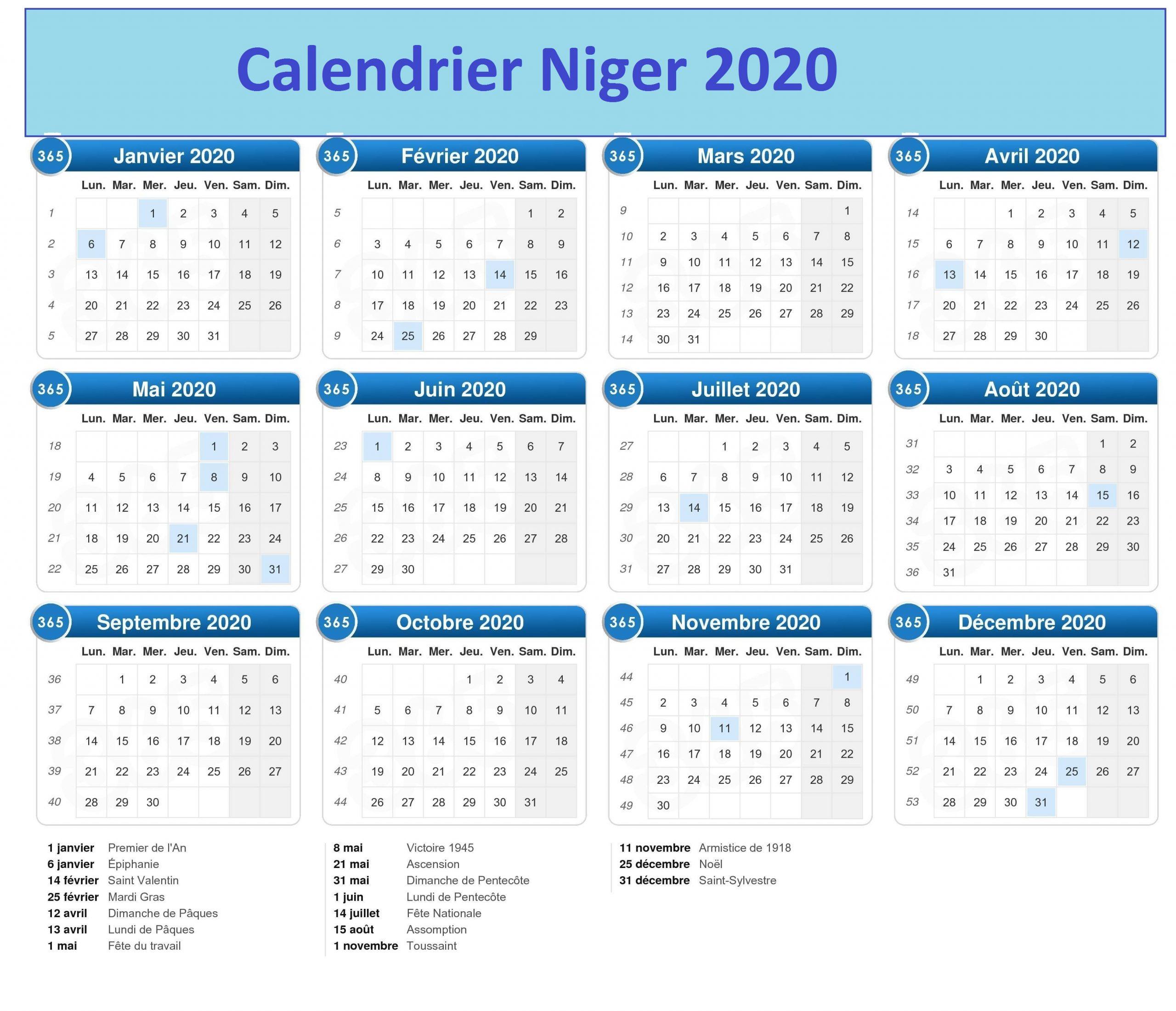 CalendrierDu Nigeria 2020