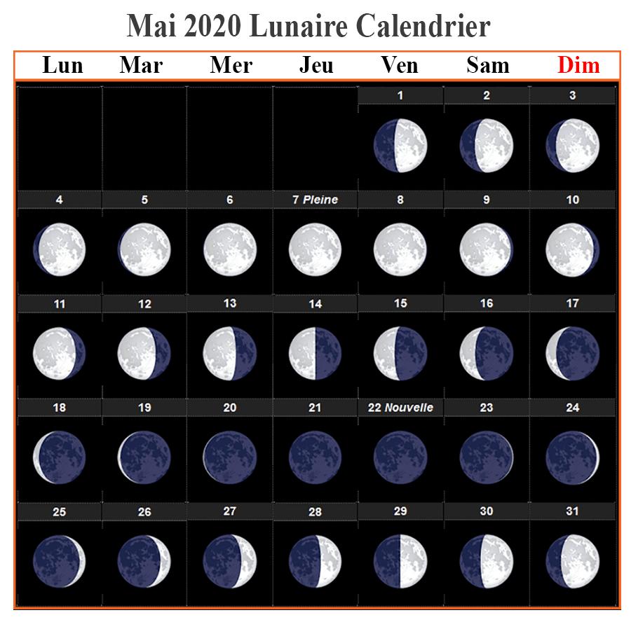 Calendrier lunaire mai 2020 Rustica