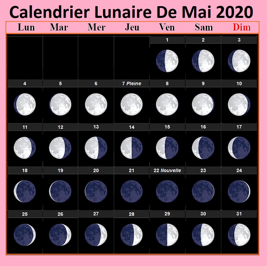 Calendrier Lunaire Mai 2021 Gerbeaud Imprimable Calendrier Lunaire Mai 2020 [Pdf]