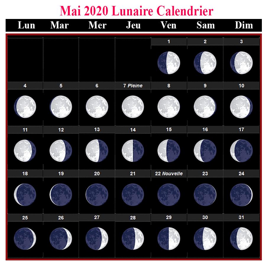 Imprimable Calendrier Lunaire Mai 2020 [Pdf]