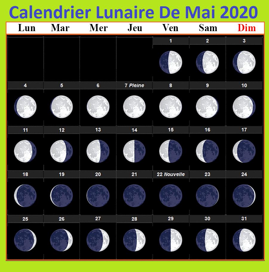 Calendrier lunaire mai 2020 Jardinage