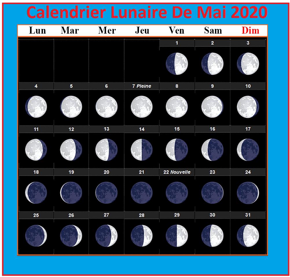 Calendrier Lunaire Mai 2021 Cheveux Imprimable Calendrier Lunaire Mai 2020 [Pdf]