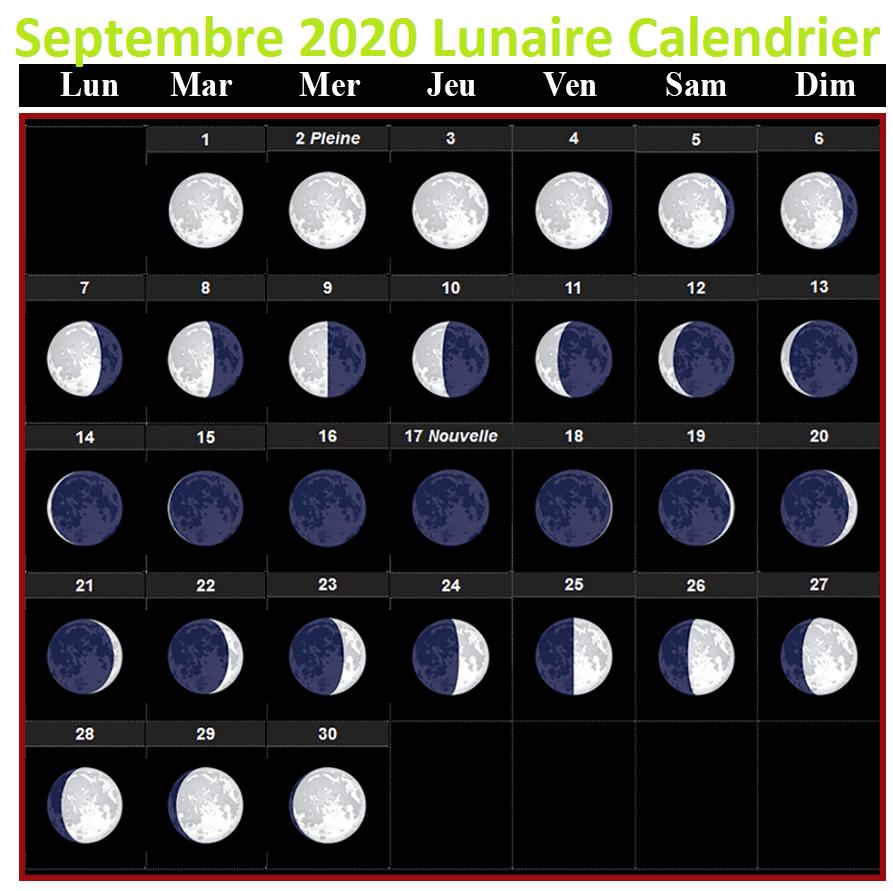 Lunar calendar September 2020 Rustica