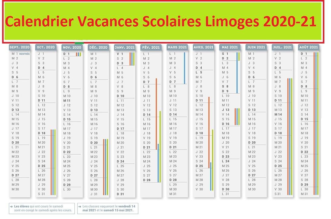 Calendrier Scolaire 2019 Et 2021 Excel Calendrier Vacances Scolaire Limoges 2020 21 Pdf,Excel