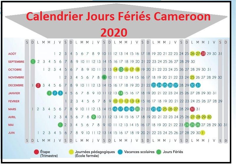 Calendrier Des Jours Fériés Au Cameroun 2020