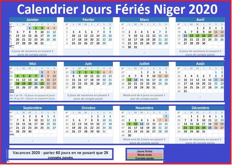 Calendrier Des Jours Fériés Au Niger 2020