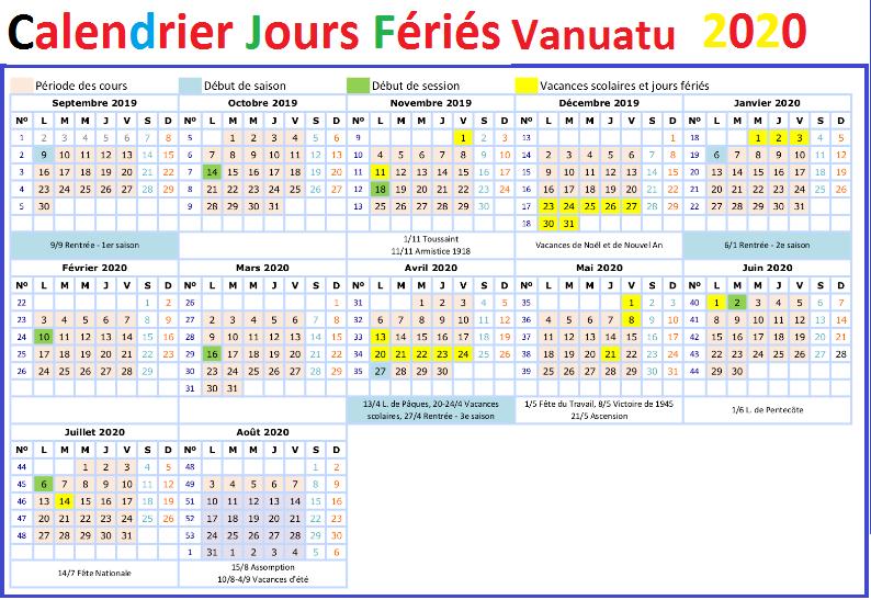 Calendrier Des Jours Fériés Du Vanuatu 2020