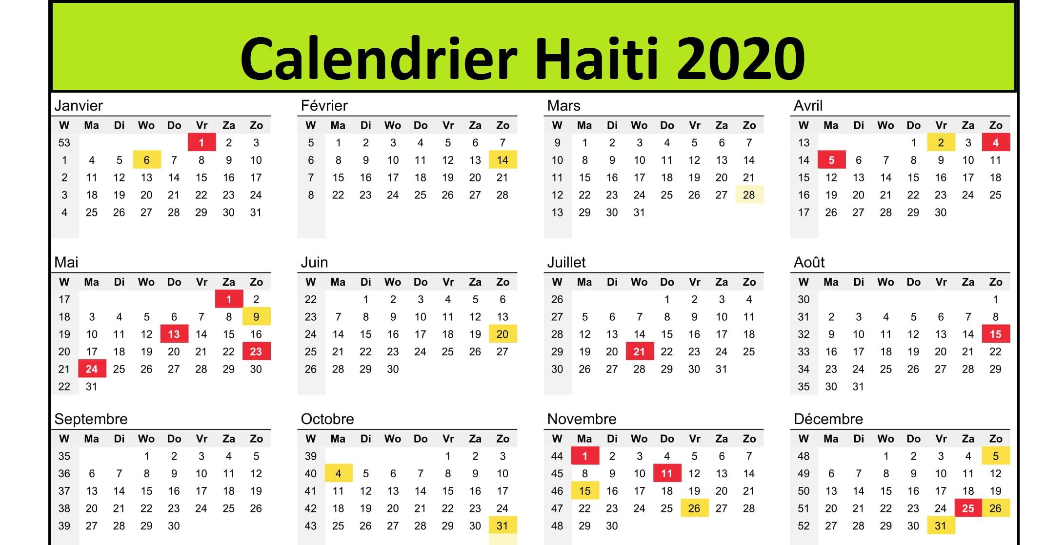 Calendrier Championnat National Haiti 2020