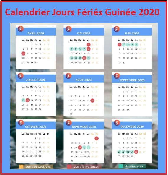 Jours Fériés Guinée Bissau 2020