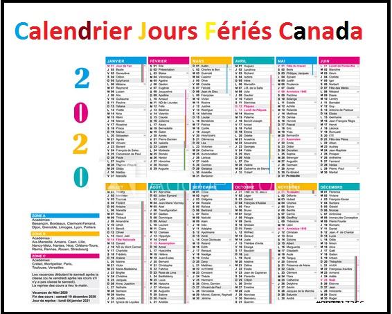 Calendrier Jours Fériés Gouvernement Du Canada 2020