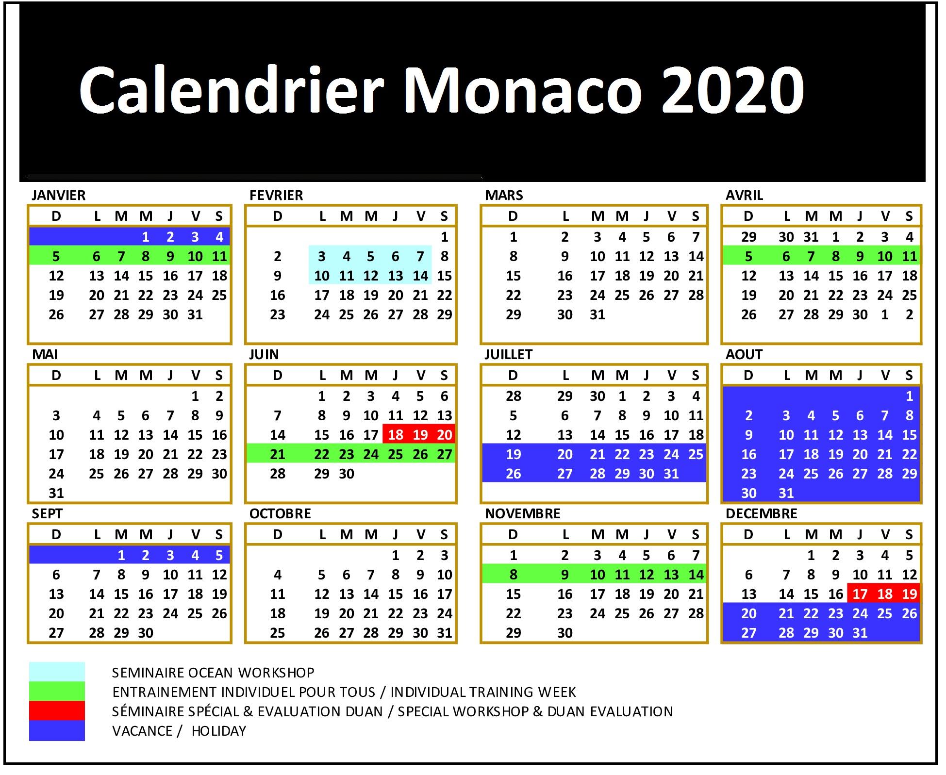 Calendrier Match Monaco 2020