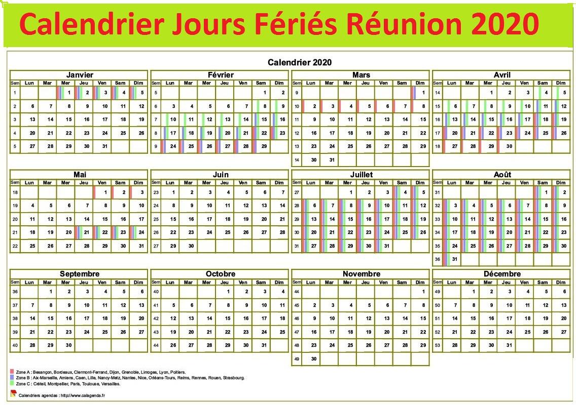Jours Fériés Réunion 2020 Excel
