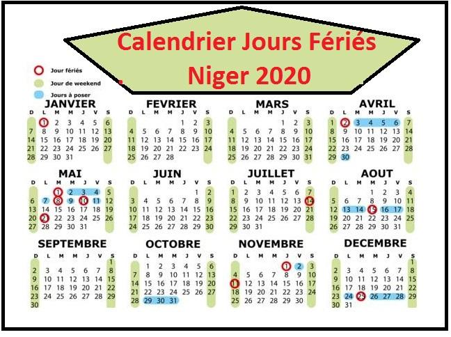 Calendrier Mali Niger Avec Jours Fériés A Imprimer