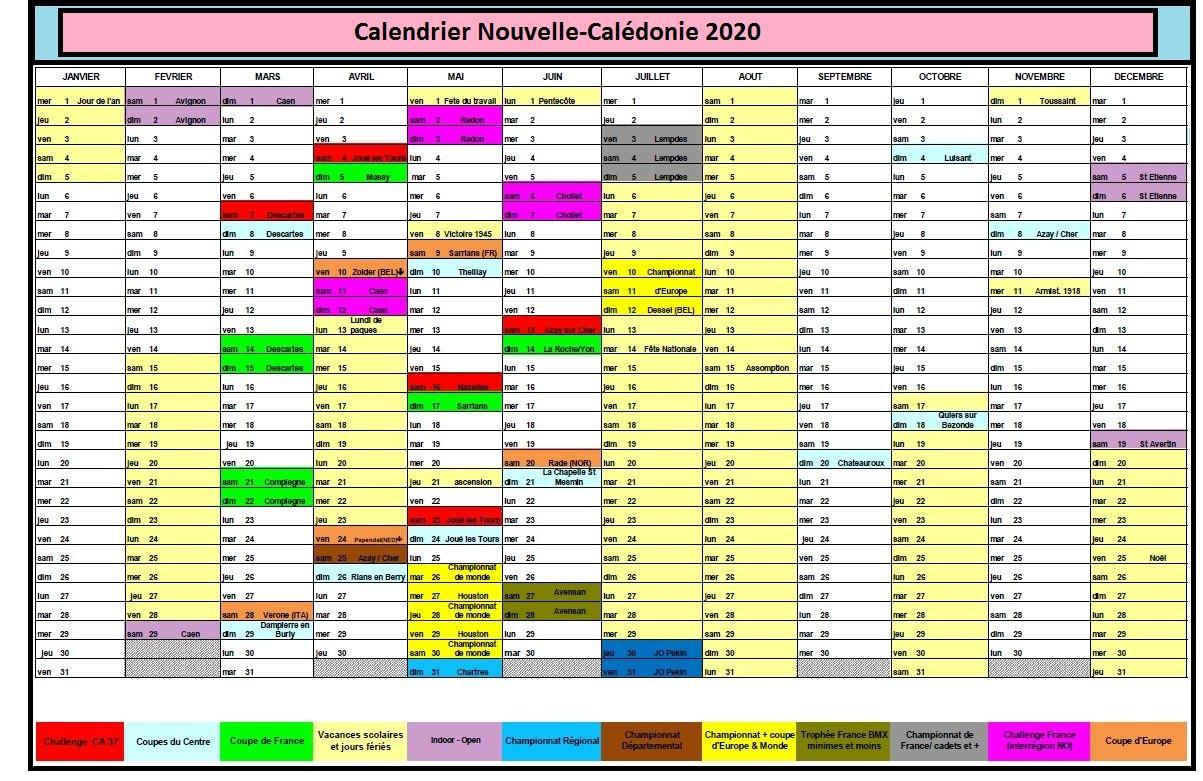 Calendrier Plantation Nouvelle-Calédonie 2020