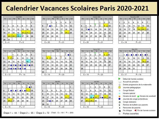 Dates Vacances Scolaires Paris Paques 2020