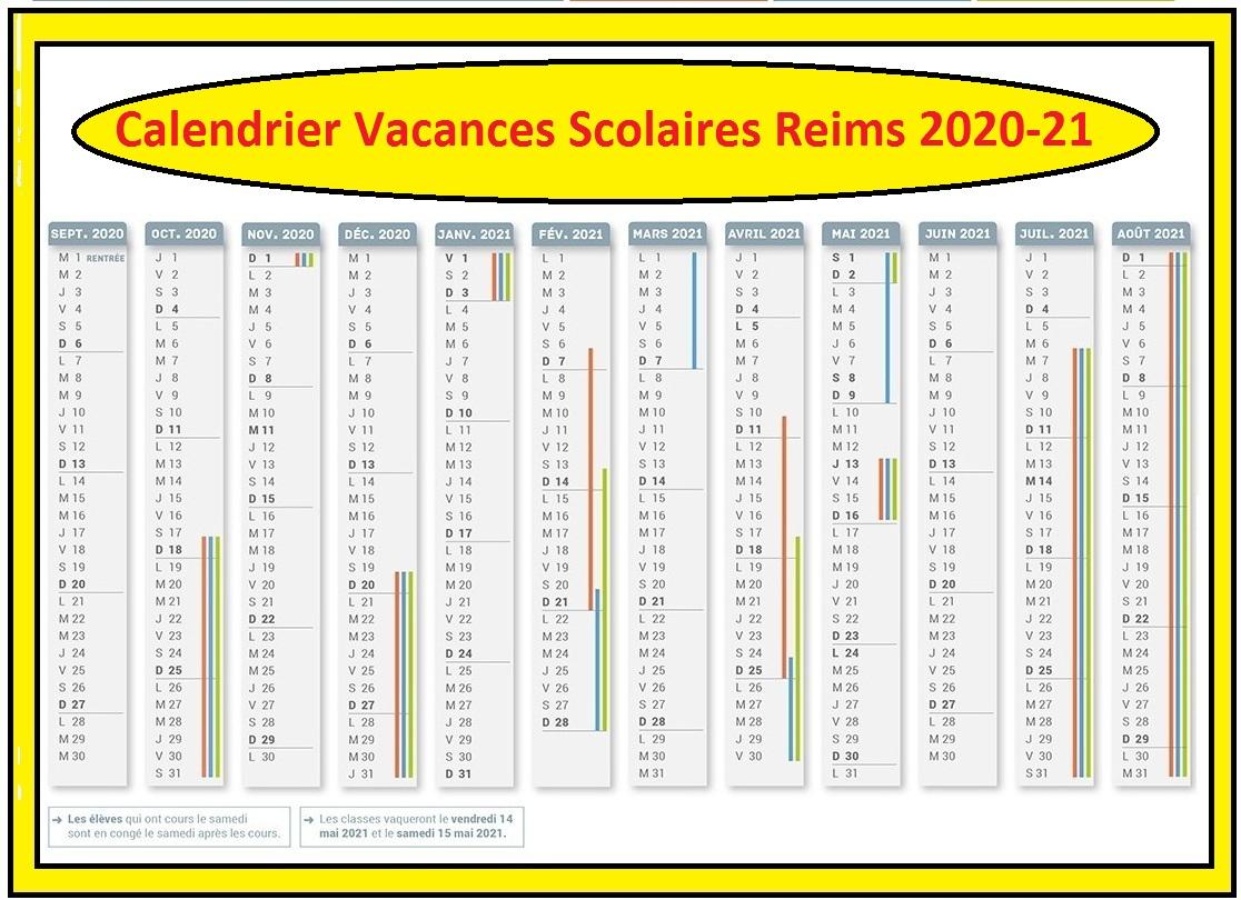 Calendrier Vacances Scolaires 2020 Academie De Reims