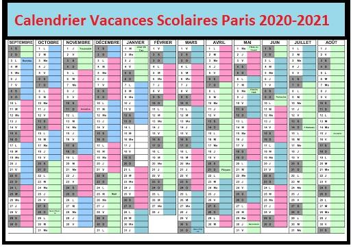 Calendrier Vacances Scolaires 2020 Paris 1