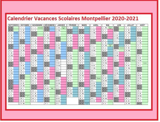 Dates Des Calendrier Vacances Scolaires Montpellier 2020