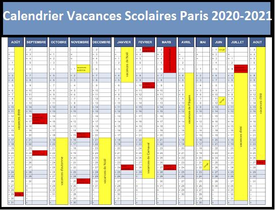 Calendrier Vacances Scolaires 2020 Academie De Paris