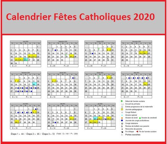 Catholiques Fetes Chretiennes 2020