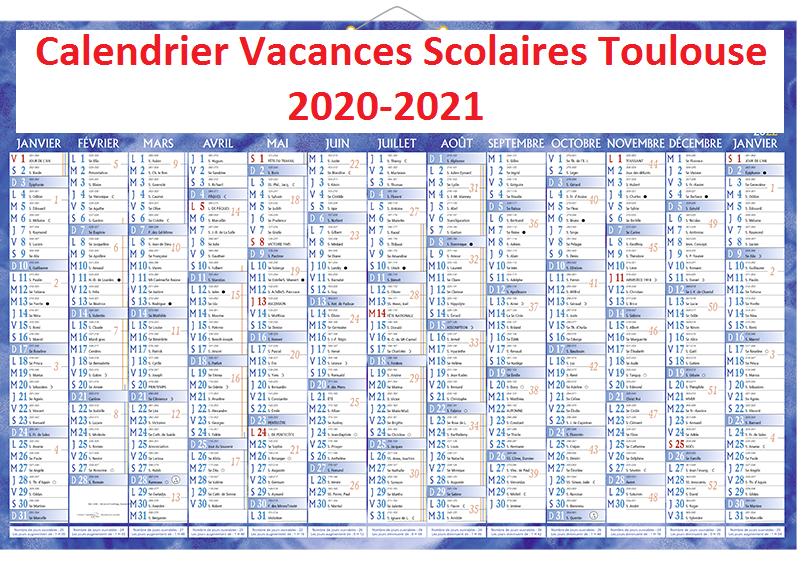 Calendrier Vacances Scolaires 2020 Zone Toulouse