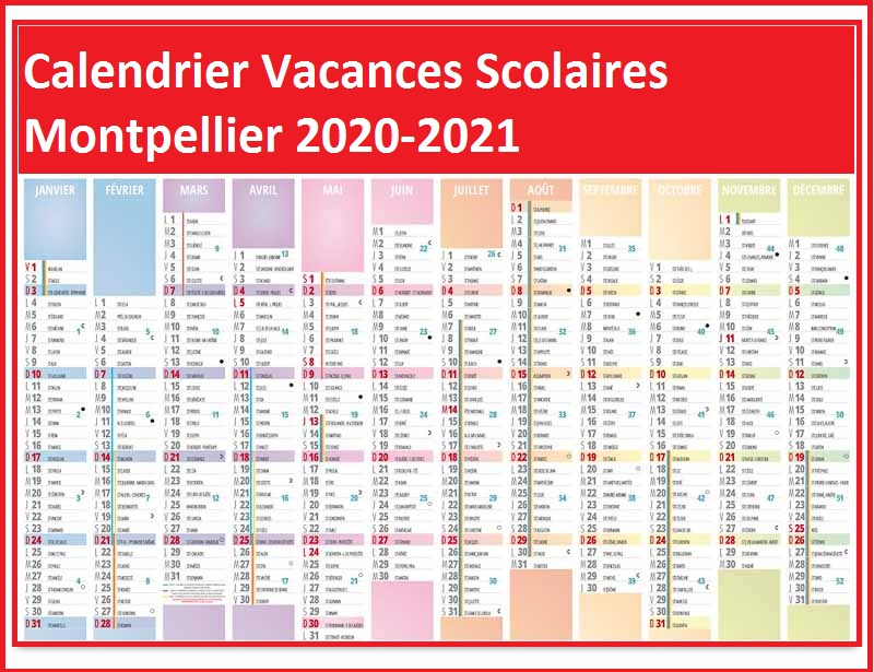 Calendrier Vacances Scolaires 2020 Zone Montpellier