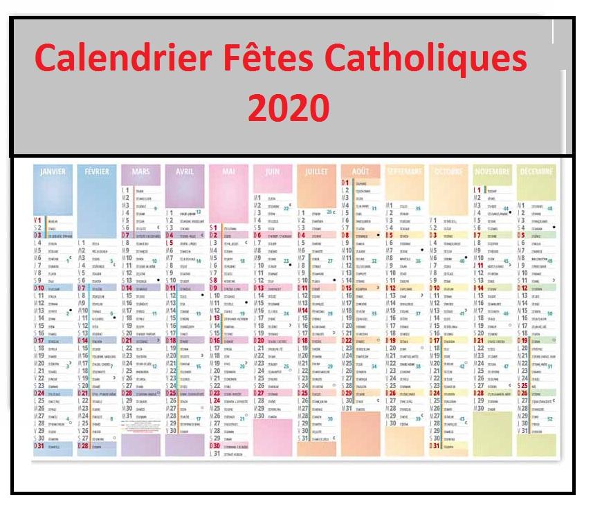Calendrier Fetes Religieuses Catholiques 2022 Calendrier Des Fêtes Chretiennes Catholiques 2020 Pdf