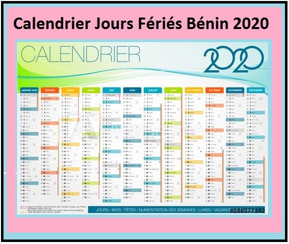 Calendrier 2020 Bénin Avec Jours Fériés A Imprimer