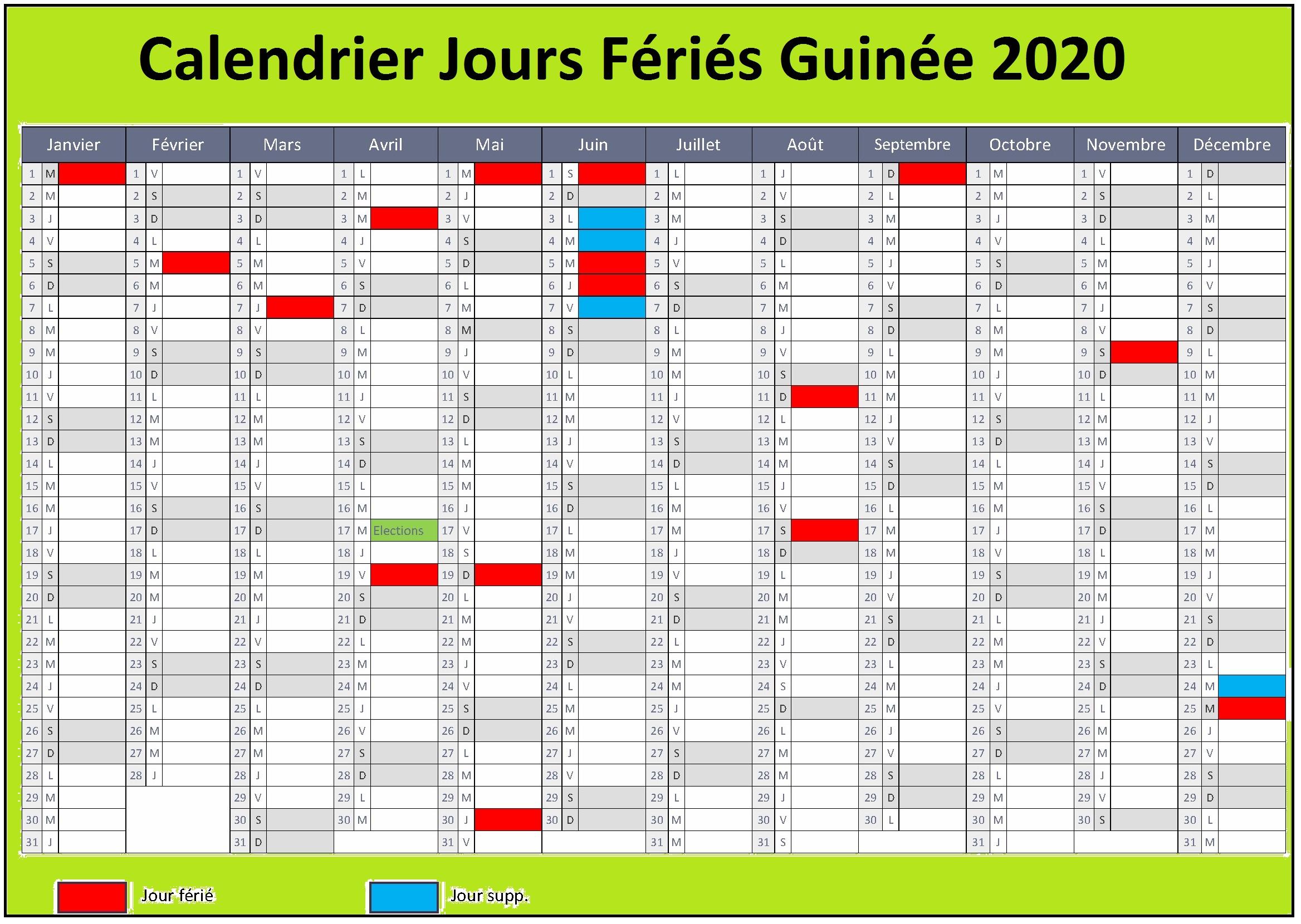 Les Jours Fériés Guinée 2020