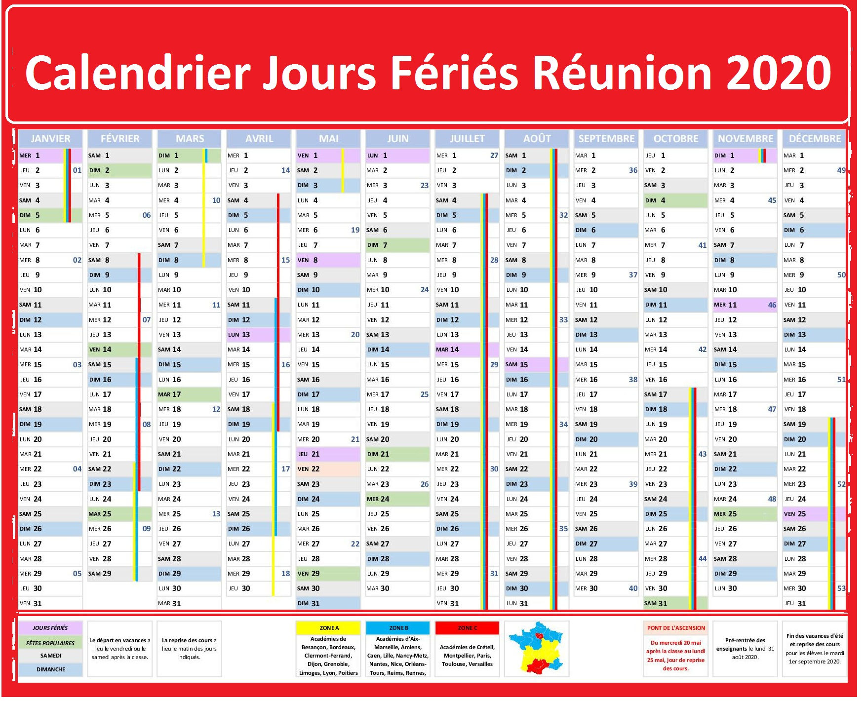 Les Jours Fériés De La Réunion 2020