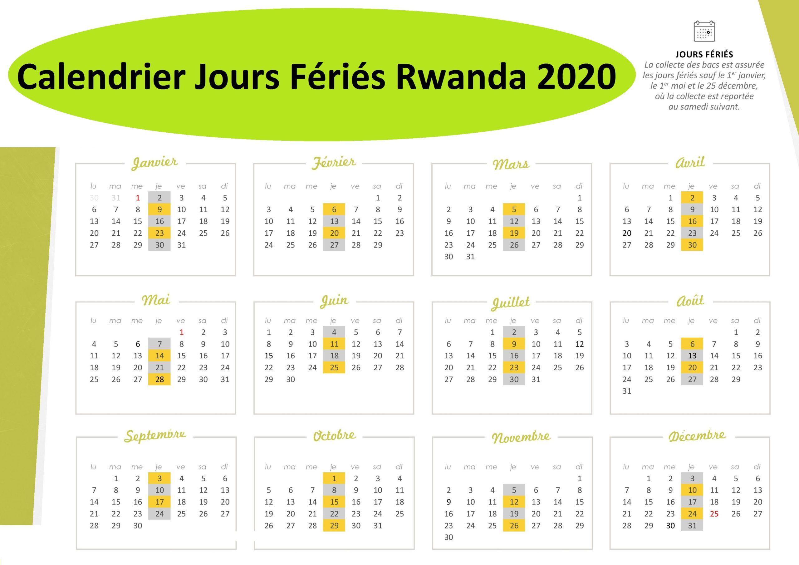 Les Jours Fériés Au Rwanda 2020