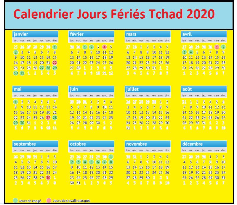 Les Jours Fériés Au Tchad 2020