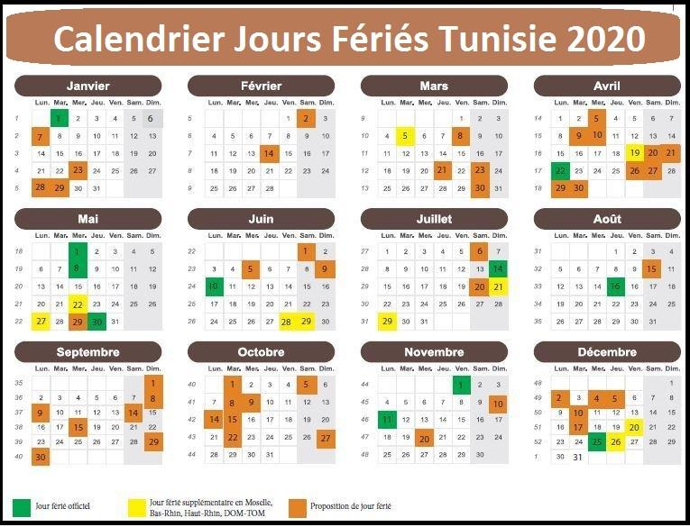 Les Jours Fériés Au Tunisie 2020